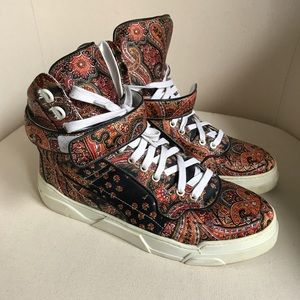 GIVENCHY Silk Paisley High-Top Sneakers